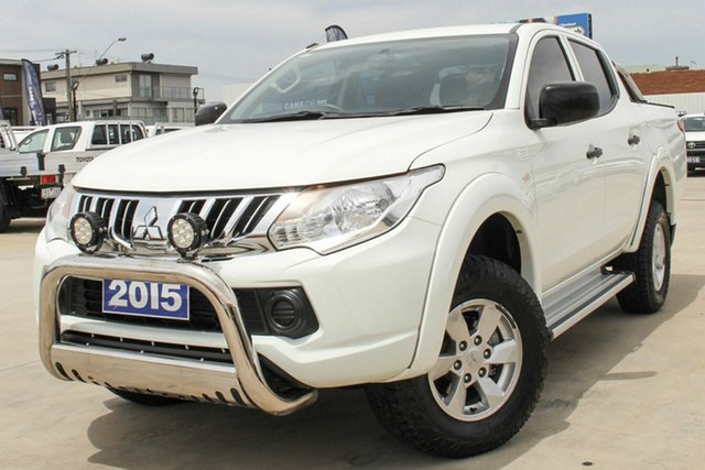 Used Mitsubishi Triton MQ MY16 GLX Double Cab Coburg North, 2015 Mitsubishi Triton MQ MY16 GLX Double Cab White 5 Speed Sports Automatic Utility