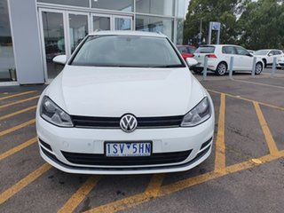 2014 Volkswagen Golf VII MY14 90TSI DSG Comfortline White 7 Speed Sports Automatic Dual Clutch Wagon.