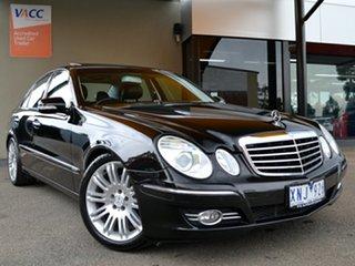 2007 Mercedes-Benz E-Class W211 MY07 E350 Avantgarde Black 7 Speed Automatic Sedan.
