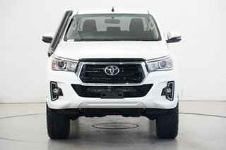 2019 Toyota Hilux GUN126R SR5 Double Cab White 6 Speed Sports Automatic Utility.