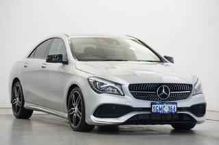2017 Mercedes-Benz CLA-Class C117 808MY CLA200 DCT Silver 7 Speed Sports Automatic Dual Clutch Coupe