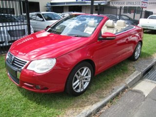 2010 Volkswagen EOS 1F MY10 155 TSI Red 6 Speed Direct Shift Convertible.