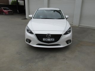 2015 Mazda 3 BM5238 SP25 SKYACTIV-Drive GT White 6 Speed Sports Automatic Sedan.