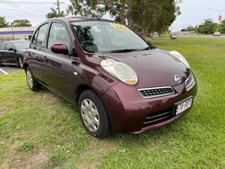 2010 Nissan Micra K12 Maroon 4 Speed Automatic Hatchback.