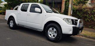 2010 Nissan Navara D40 ST (4x4) White 5 Speed Automatic Dual Cab Pick-up