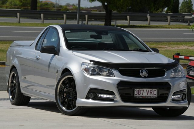 Used Holden Ute VF MY14 SS V Ute Redline North Lakes, 2013 Holden Ute VF MY14 SS V Ute Redline Silver 6 Speed Sports Automatic Utility