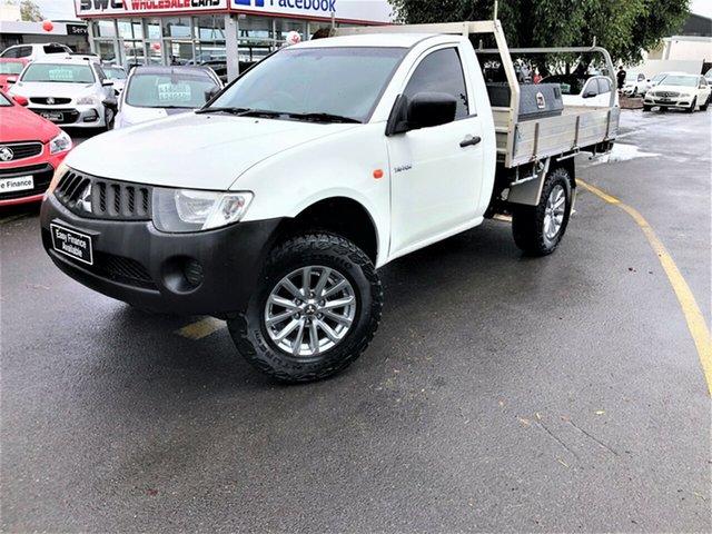 Used Mitsubishi Triton ML MY08 GL 4x2 Seaford, 2008 Mitsubishi Triton ML MY08 GL 4x2 White 5 Speed Manual Cab Chassis