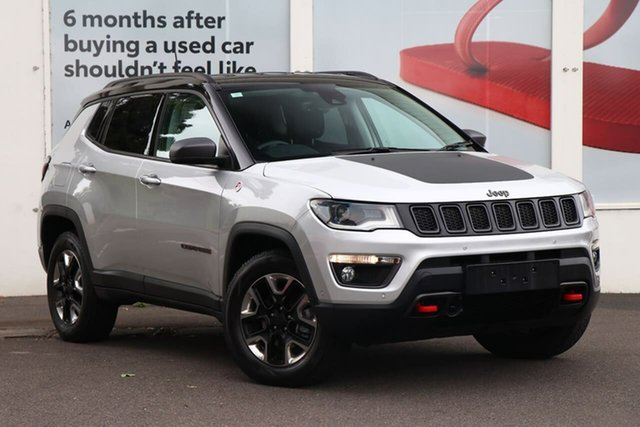 Pre-Owned Jeep Compass M6 MY18 Trailhawk Ferntree Gully, 2018 Jeep Compass M6 MY18 Trailhawk Silver 9 Speed Automatic Wagon