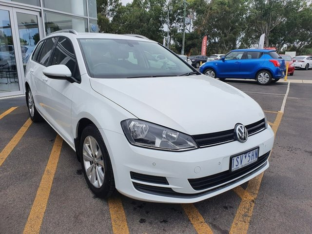 Used Volkswagen Golf VII MY14 90TSI DSG Comfortline Epsom, 2014 Volkswagen Golf VII MY14 90TSI DSG Comfortline White 7 Speed Sports Automatic Dual Clutch Wagon