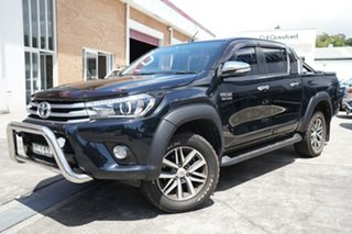 2017 Toyota Hilux GUN126R SR5 Double Cab Black 6 Speed Manual Utility.