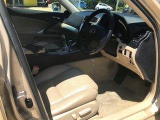 2008 Lexus IS GSE20R IS250 Prestige Beige 6 Speed Sports Automatic Sedan.
