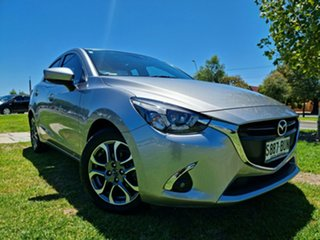 2017 Mazda 2 DL2SAA GT SKYACTIV-Drive Silver 6 Speed Sports Automatic Sedan.
