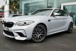 2018 BMW M2 F87 MY19 Competition Hockenheim Silver Metallic 7 Speed Auto Dual Clutch Coupe.