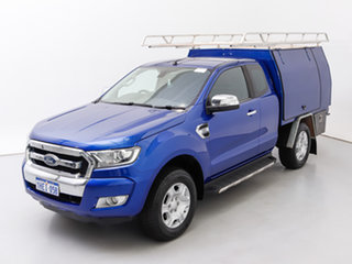 2015 Ford Ranger PX MkII XLT 3.2 (4x4) Blue 6 Speed Automatic Super Cab Utility