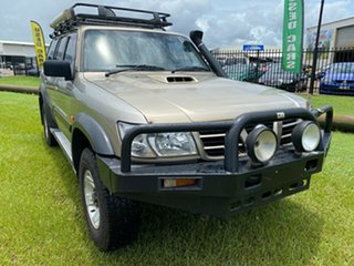 2002 Nissan Patrol GU III MY2002 ST Gold 5 Speed Manual Wagon.