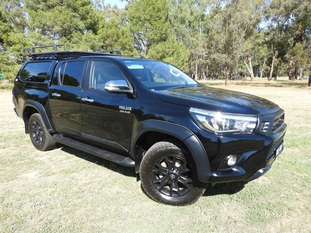 Used Toyota Hilux GUN126R SR5 Double Cab Epsom, 2017 Toyota Hilux GUN126R SR5 Double Cab Black 6 Speed Sports Automatic Utility