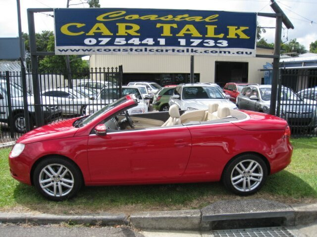 Used Volkswagen EOS 1F MY10 155 TSI Nambour, 2010 Volkswagen EOS 1F MY10 155 TSI Red 6 Speed Direct Shift Convertible