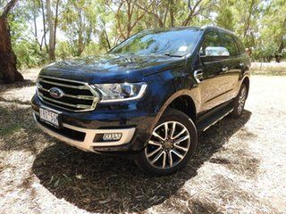 2019 Ford Everest UA II 2020.25MY Titanium Blue 10 Speed Sports Automatic SUV