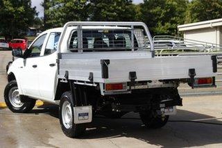 2017 Mitsubishi Triton MQ MY18 GLX Double Cab White 5 Speed Sports Automatic Cab Chassis.
