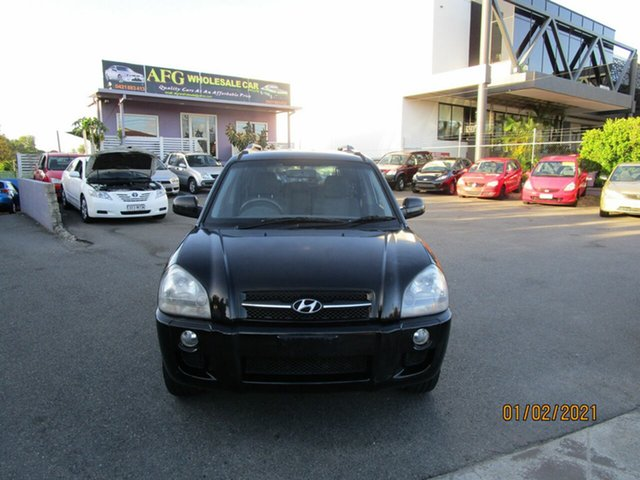 Used Hyundai Tucson City Coorparoo, 2007 Hyundai Tucson City Black 4 Speed Auto Selectronic Wagon