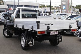 2016 Mitsubishi Triton MQ MY17 GLX 4x2 Black 5 Speed Manual Cab Chassis.