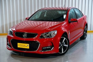 2017 Holden Commodore VF II MY17 SV6 Red/Black 6 Speed Sports Automatic Sedan.