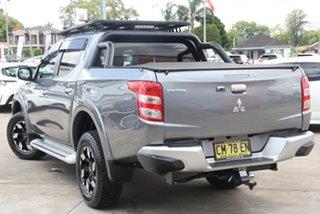 2017 Mitsubishi Triton MQ MY17 Exceed (4x4) Grey 5 Speed Automatic Dual Cab Utility.