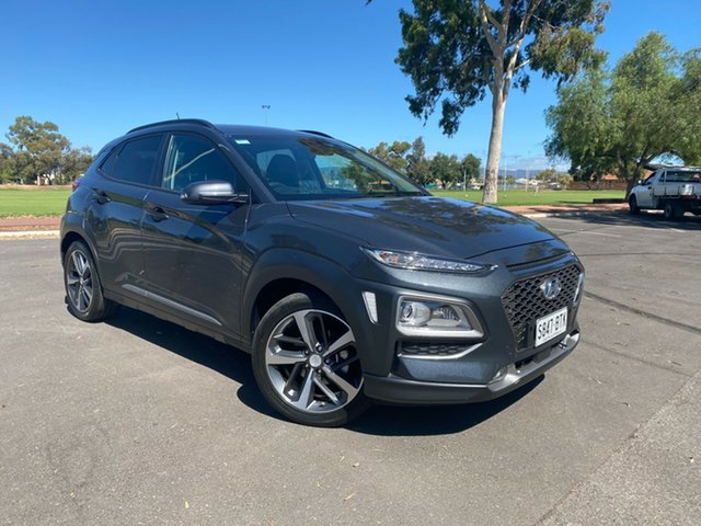 Used Hyundai Kona OS MY18 Highlander 2WD Nailsworth, 2017 Hyundai Kona OS MY18 Highlander 2WD Grey 6 Speed Sports Automatic Wagon