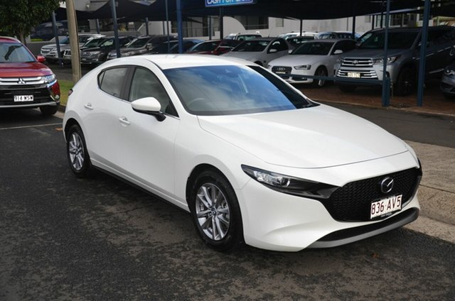 Used Mazda 3 BP G20 Pure Toowoomba, 2019 Mazda 3 BP G20 Pure White 6 Speed Automatic Hatchback