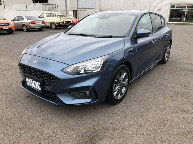 Used Ford Focus SA 2019.75MY ST-Line Epsom, 2019 Ford Focus SA 2019.75MY ST-Line Blue 8 Speed Automatic Hatchback