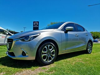 2017 Mazda 2 DL2SAA GT SKYACTIV-Drive Silver 6 Speed Sports Automatic Sedan