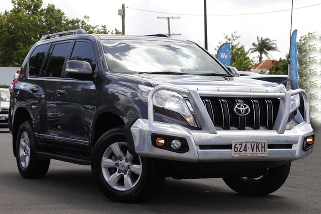 Used Toyota Landcruiser Prado KDJ150R MY14 Altitude Mount Gravatt, 2014 Toyota Landcruiser Prado KDJ150R MY14 Altitude Grey 5 Speed Sports Automatic Wagon