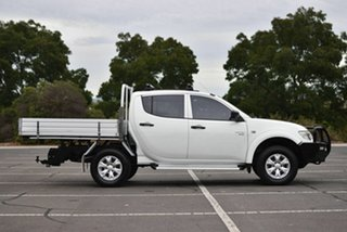 2012 Mitsubishi Triton MN MY12 GL-R Double Cab White 5 Speed Manual Utility