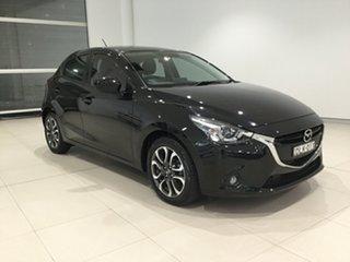 2016 Mazda 2 DJ2HAA Genki SKYACTIV-Drive Black 6 Speed Sports Automatic Hatchback.