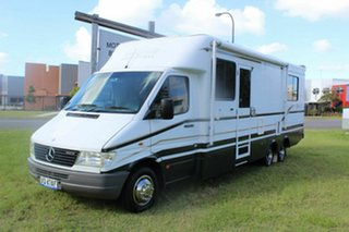 1999 Mercedes-Benz Sprinter 412D LWB White 5 Speed Manual Cab Chassis.
