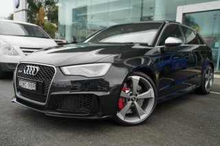 2016 Audi RS 3 8V Sportback Quattro Mythos Black 7 Speed Auto Dual Clutch Hatchback.