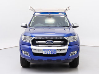 2015 Ford Ranger PX MkII XLT 3.2 (4x4) Blue 6 Speed Automatic Super Cab Utility.