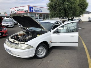 2001 Ford Falcon AU II XL Ute Super Cab White 4 Speed Automatic Utility