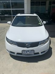 2012 Kia Cerato TD MY12 SLi White 6 Speed Sports Automatic Hatchback.