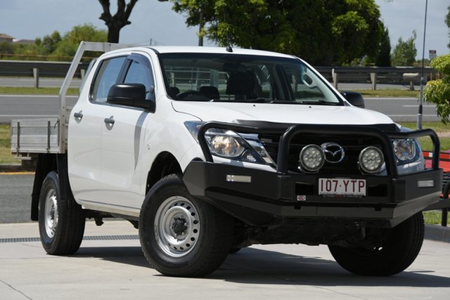 Used Mazda BT-50 UR0YG1 XT North Lakes, 2018 Mazda BT-50 UR0YG1 XT White 6 Speed Manual Cab Chassis