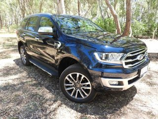 2019 Ford Everest UA II 2020.25MY Titanium Blue 10 Speed Sports Automatic SUV.