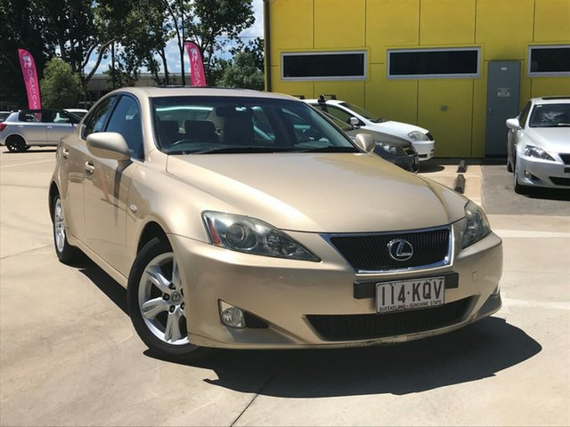 Used Lexus IS GSE20R IS250 Prestige Toowoomba, 2008 Lexus IS GSE20R IS250 Prestige Beige 6 Speed Sports Automatic Sedan