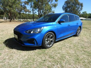 2019 Ford Focus ST Line Blue 8 Speed Automatic Wagon.