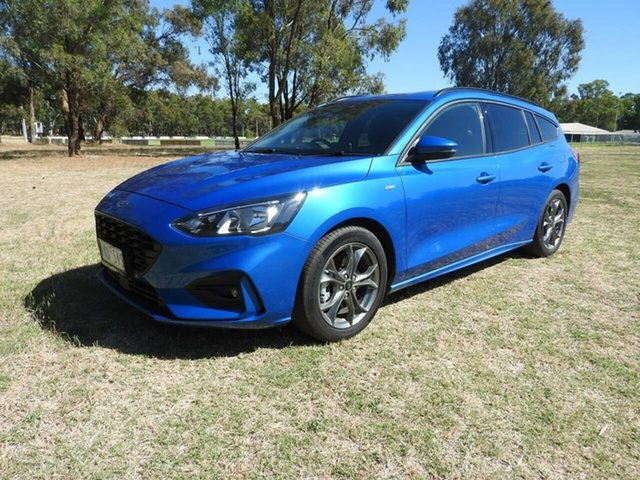 Used Ford Focus Epsom, 2019 Ford Focus ST Line Blue 8 Speed Automatic Wagon