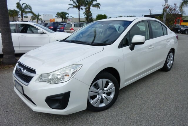 Used Subaru Impreza G4 MY12 2.0i Lineartronic AWD Cheltenham, 2012 Subaru Impreza G4 MY12 2.0i Lineartronic AWD Pearl White 6 Speed Constant Variable Sedan