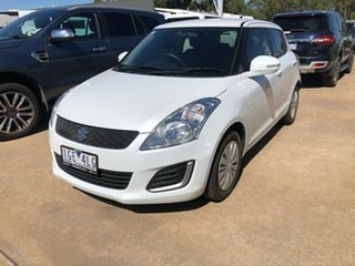 2015 Suzuki Swift GL White 4 Speed Automatic Hatchback.
