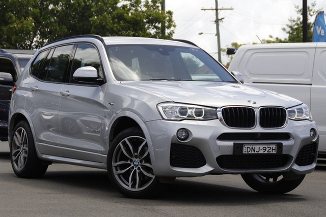 Used BMW X3 F25 LCI xDrive20d Steptronic Mount Gravatt, 2017 BMW X3 F25 LCI xDrive20d Steptronic Silver 8 Speed Automatic Wagon