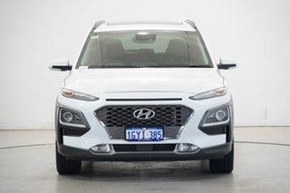 2020 Hyundai Kona OS.3 MY20 Highlander D-CT AWD Chalk White 7 Speed Sports Automatic Dual Clutch.