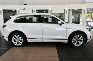 2020 Volkswagen Touareg CR MY21 210TDI Tiptronic 4MOTION Elegance White 8 Speed Sports Automatic