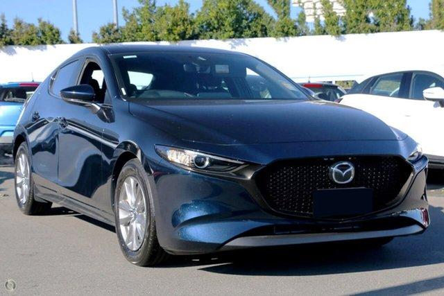 New Mazda 3 BP2H7A G20 SKYACTIV-Drive Pure Waitara, 2020 Mazda 3 BP2H7A G20 SKYACTIV-Drive Pure Blue 6 Speed Sports Automatic Hatchback
